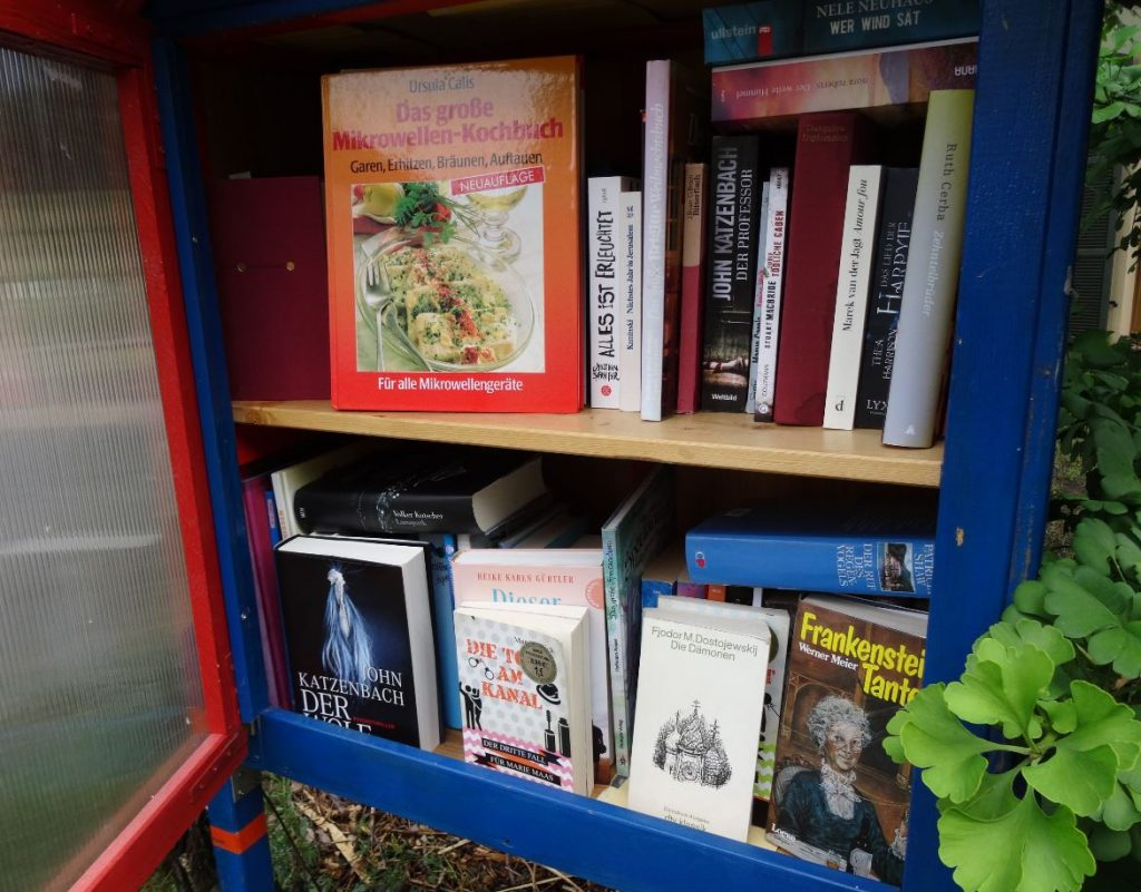 Die Gutsbibliothek im langen Sommer 2018